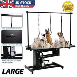 New Pet Dog Grooming Table Adjustable Hydraulic Noose Leash Lift Professional UK
