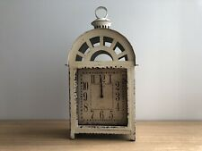 White Vintage Inspired Lantern Clock