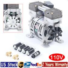 85w Oilless Vacuum Pump Oil Free Air Compressor 25lmin Air Flow G18