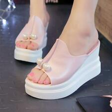 Women Sandals Summer Thick Heel Sexy Wedges White Black Shoes Platform Slippers