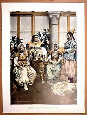 TUNISIE  Femmes tunisiennes (anciens costumes) - Photochromie fin 19ème Gravure