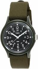 Timex Original Vietnam Campers 36mm Black Dial Khaki Nylon Strap Watch New
