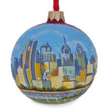 Philadelphia, Pennsylvania Glass Ball Christmas Ornament 3.25 Inches