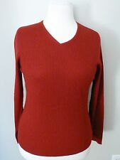 Charter Club Red V-neck Wool Sweater Size L