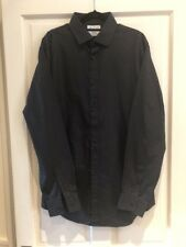 Mens John Francomb Fully Futted Black Shirt From T M Lewin 16 1/2 36