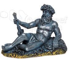 """Neptune Stone Statue Resin Aquarium/Terrarium Ornament Small 6.5"""""""