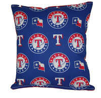 Rangers Pillow Texas Rangers MLB Pillow HANDMADE Baseball Pillow Made In USA