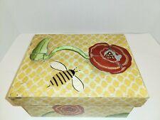 Vintage Carol Endres Bee Home By Palecek Wooden Box