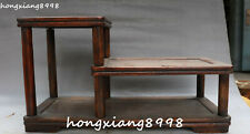 Chinese Huang Huali Wood Carved Dynasty Pergola Flower Stand Flower Shelf Statue