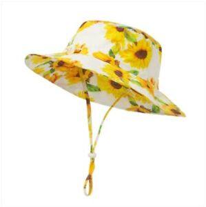 NEW Baby Kids Sunhat for ages 6 months to 2 years Size 50cm Sunflower Sun Hat