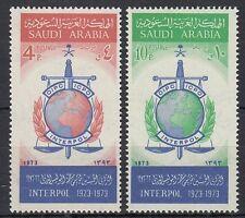 Saudi Arabia 1974 ** Mi.560/61 Interpol