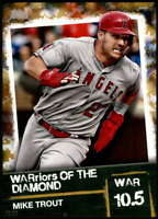 Mike Trout 2020 Topps WARriors of the Diamond 5x7 Gold #WOD-19 /10 Angels