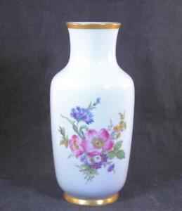 """Gerold Porzellan Bavaria Floral Design Vase 10 3/8"""""""