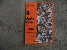 1980-81 (Feb) Dundee United v Morton  -  Scottish Premier League