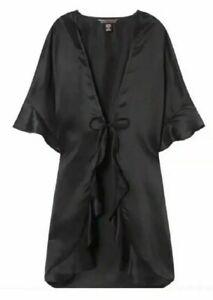 Victorias Secret SILKY SATIN Kimono Robe Love Lingerie Wrap Small Medium Large