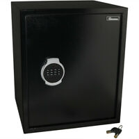 Sunnydaze Steel Digital Home Security Safe - Removable Shelf - 2.26 Cubic Feet