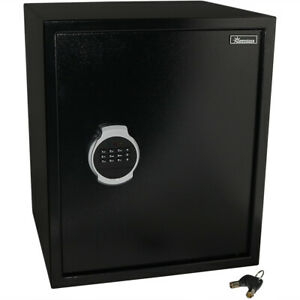 Sunnydaze Steel Digital Home Security Safe - Removable Shelf - 2.26 Cubic Feet