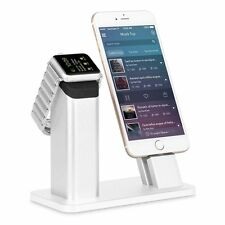 ZIKU iPhone Holder Stand for Apple Watch 3 2 iPhone X 8/7/6S/6/SE/5 Plus + Both