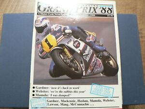 GRAND PRIX 88 SUMMER 1988 A MOTORCYCLE NEWS SPECIAL WAYNE GARDNER HONDA NSR,