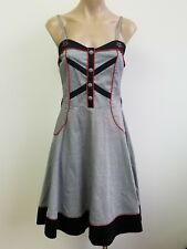 Gothic Rockabilly LIVING DEAD SOULS Dress Black and White Houndstooth Size M