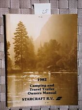 StarCraft R.V RV Camping Travel Trailer Owners Manual Vintage 1982 Americana 25