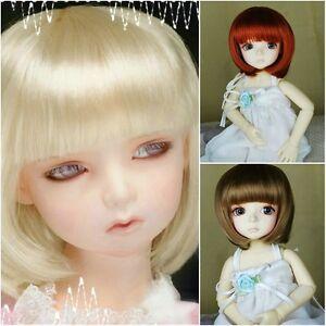 "3 Wig Set Blonde Carrot Brown BOB 6-7"" wig for for Yo-sd 1/6 BB BJD Doll SD"