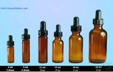 1 oz Amber (30ml) Boston Round w/Child Resistant dropper -72 pcs
