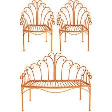 Wire Child's Love Seat & Chair Set Orange - D36431Oran