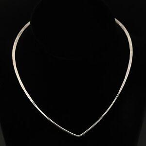 "VTG Sterling Silver - NORWAY David Andersen Modernist Collar 15"" Necklace - 12g"