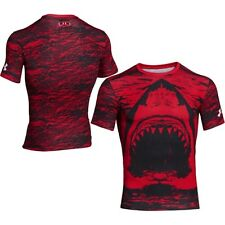 UNDER ARMOUR Men's Heat Gear Alter Ego Red Shark Compression Shirt Size: Large