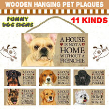 11 Kinds Of Funny Dog Signs Wood Plaque Pet Hanging Plaques Gift Home Decor Sign