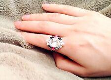 New Swarovski Signed BALANCING Pearl Pink Silver Ring Size Medium/7/55 - 5069770