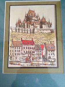Original Signed Pen And Ink Pictures Of Quebec