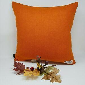 ORANGE WOOL Harris Tweed plain handmade genuine cushion cover all sizes