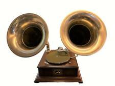 Old Talking Machine Vintage HMV Phonograph Twin-Horn Antique Gramophone BG 028