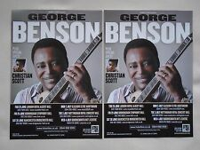 "GEORGE BENSON Live in Concert ""Guitar Man"" 2012 UK Tour Promo tour flyers x 2"