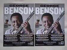 "GEORGE BENSON Live in Concert ""Guitar Man"" 2012 UK Tour Promo tour flyers x 2"