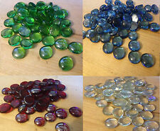 Glass Nugget Lustered Round Pebbles Beads Stones Button Free Ship 7 colors
