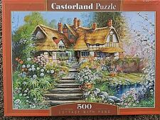 """""""Cottage With Pond"""" 500-Piece Jigsaw Puzzle - Sealed"""