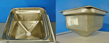 "Square Stainless Steel Drop In Bar Sink tray inset Cone Bottom 17.5""x17.5x12""dee"