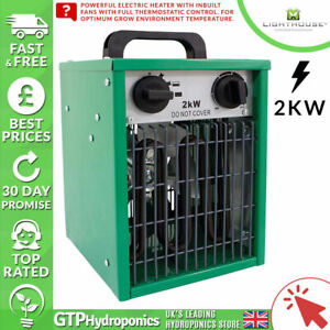 Electric Greenhouse Heater Lighthouse 1kw 2kw Modes Hydroponics Grow Tents