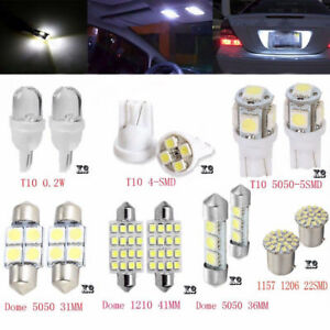 14pcs Car T10 White Festoon LED Interior Map Dome License Plate Lights 31mm&41mm