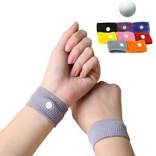 2x Anti Nausea Motion Sickness Wristband Bracelet Car Sea Plane Travel Sick Band