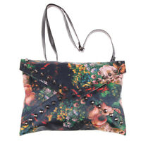 Womens Envelope Clutch Chain Purse Rivet Handbag Tote Floral Shoulder Hand Bag