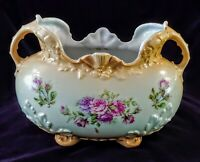 Antique ROBERT HANKE Royal Wettina Porcelain Austria  Footed VASE 1881-1914