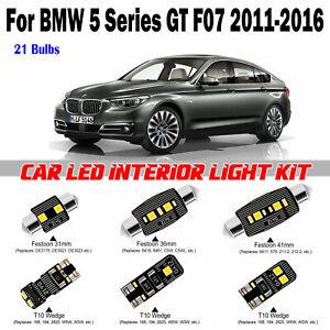 21 Bulbs Xenon White LED Interior Light Kit For BMW 5 Series GT F07 2011-2016