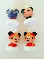 Set of 4--Disney Mickey Mouse Good2Grow Toppers 1 Rare blue American Flag face