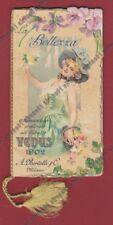 CALENDARIETTO BERTELLI 1902 VENUS - LA BELLEZZA - IN RILIEVO old pocket calendar