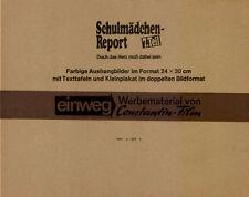 Schulmädchen-Report 7. Teil ORIGINAL Umschlag Puppa Armbruster / R. Talamonti