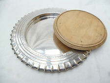 ANTIQUE SILVER DISH with FITTED BREAD BOARD - Walker & Hall - High Quality vgc